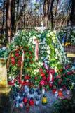 Tomba di Tadesusz Mazowiecki dopo il funerale Fotografie Stock