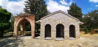 Tomba di Thracian di Kazanlak, Bulgaria fotografia stock