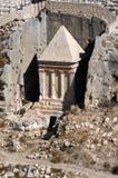 Tomba di Zechariah in supporto delle olive Fotografia Stock