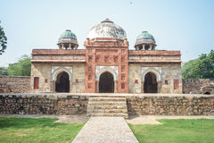 Tomba e moschea di Isa Khan immagine stock