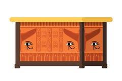 Tomba egiziana, costruzione di sepoltura, sarcofago antico, punto di riferimento, pezzo di museo royalty illustrazione gratis