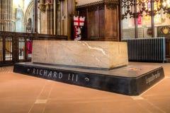 Tomba HDR di re Riccardo III della cattedrale di Leicester fotografia stock