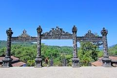 Tomba imperiale di Khai Dinh, sito del patrimonio mondiale dell'Unesco di Hue Vietnam fotografia stock