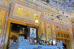 Tomba imperiale di Khai Dinh, sito del patrimonio mondiale dell'Unesco di Hue Vietnam immagini stock libere da diritti