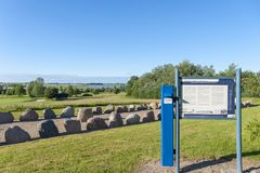 Tomba megalitica vicino a Wulfen fotografie stock libere da diritti