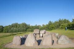 Tomba megalitica vicino a Wulfen fotografia stock libera da diritti