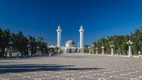 Tomba monumentale del mausoleo di Bourguiba in Monastir, Tunisia immagini stock libere da diritti