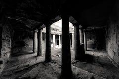 Tomba 3 nelle tombe della necropoli di re Pafo, Cipro immagini stock