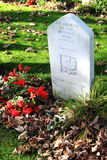 Tomba polacca del soldato di sconosciuto, Nes, Ameland, Olanda Immagini Stock