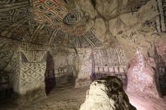 Tomba sotterranea di Tierradentro immagine stock