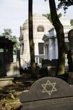 Tomba su Lodz Cementary ebreo Fotografia Stock Libera da Diritti