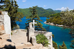 Tomba sull'isola Mljet nel Croatia immagine stock libera da diritti