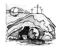 Tomba vuota di Jesus Christ illustrazione vettoriale