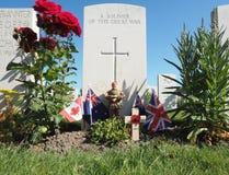 Tomba WW1 del soldato sconosciuto Fotografia Stock Libera da Diritti