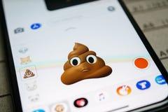 Tombadilho de Animoji Emoji do reconhecimento da identificação Faceial da cara Imagens de Stock