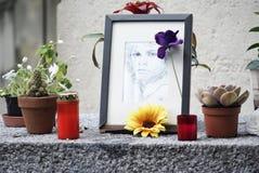 Tombe 4 de Jim Morrison Photos libres de droits