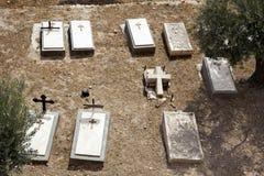 Cimitero del cristiano del monte degli Ulivi Fotografia Stock Libera da Diritti
