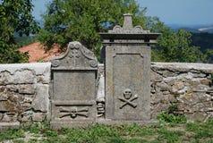Tombe al san Vitus Parish Church in Gracisce Fotografia Stock