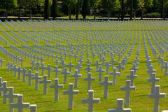 Tombe americane di WWII, Italia Fotografia Stock