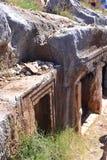 Tombe antique de roche Images libres de droits