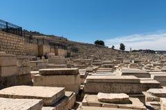 Tombe in cimitero ebreo Gerusalemme, Israele fotografia stock