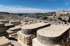Tombe in cimitero ebreo Gerusalemme, Israele fotografie stock