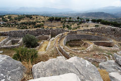 Tombe d'enterrement dans Mycenae Photos libres de droits