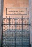 Tombe d'Immanuil Kant (1724-1804) Kaliningrad Photo libre de droits