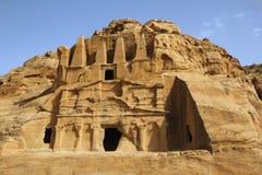 Tombe d'obélisque et le Triclinium, PETRA, Jordanie Photographie stock libre de droits