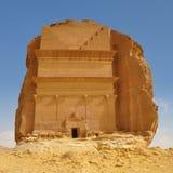 Tombe dans la roche - landcape archéologique de désert de site photos libres de droits