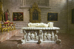 Tombe dans Sevilla Cathedral, Espagne du sud Image stock