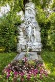 Tombe de compositeur Johann Strauss dans le cimetière à Vienne photo libre de droits
