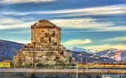 Tombe de Cyrus le grand dans Pasargadae images stock