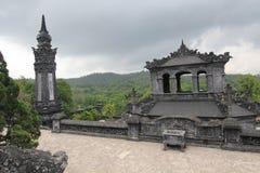 Tombe de dinh de khai de Lang en Hue, Vietnam photographie stock