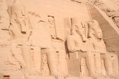Tombe de farao de simbel d'Abu en Egypte photographie stock