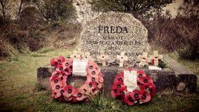 Tombe de Fredas, chasse de Cannock Image libre de droits
