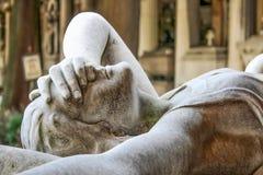 Tombe de la famille de Ribaudo, cimetière monumental de Gênes, Italie Photos libres de droits