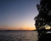 Tombée de la nuit Image stock
