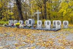Tombe de masse des soldats polonais sur le Westerplatte, Pologne Images stock