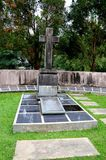 Tombe de membre du raja blanc de famille de Brooke du fort Margherita Kuching Malaysia de Sarawak photos stock