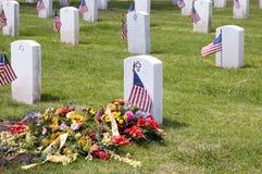 Tombe de militaires des USA Photos libres de droits