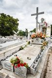 Tombe de miracle - cimetière de deux points - La Havane, Cuba Images stock