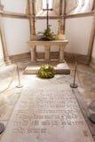 Tombe de Pedro Alvares Cabral, le découvreur de navigateur du Brésil Photo libre de droits