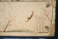 Tombe de plongeur, Paestum images libres de droits