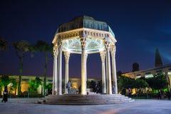 Tombe de visite de personnes de poète Hafez Image libre de droits