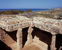 Tombe dei re, Cipro. fotografia stock libera da diritti