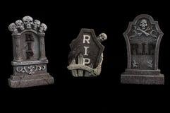 Tombe del RIP di Halloween Fotografia Stock