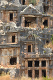 Tombe del taglio della roccia Immagini Stock Libere da Diritti