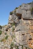Tombe del taglio della roccia di Lycian Fotografie Stock Libere da Diritti