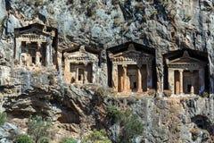 Tombe della caverna di Kaunos Fotografie Stock